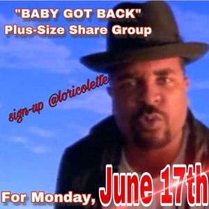 """Baby Got Back"" Plus-Size Weekly Share Group"